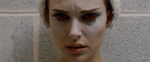 Natalie Portman as a tormented ballerina in Black Swan