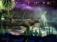T-Rex stalks the Brachiosaurus