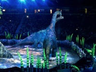 A pair of Brachiosaurus