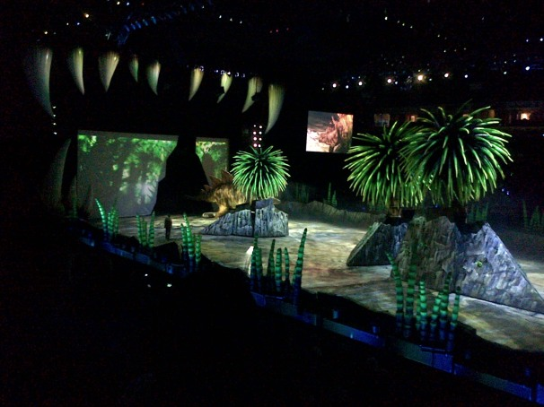 It was a world of trees and ferns...with the odd dinosaur hiding here and there