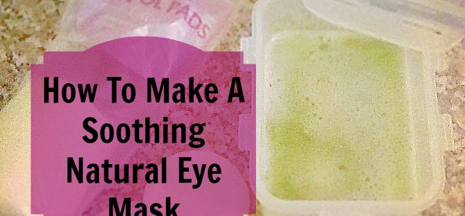 potato and cucumber eye mask