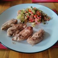 pork and salad